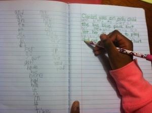 Kindergarten Writing Activity